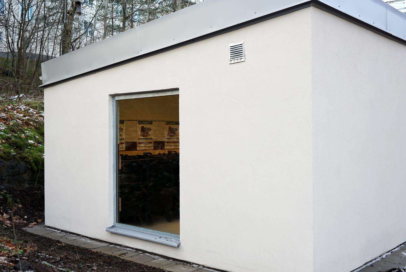 Heving & Hägglund Byggservice - Miljöhus åt Stockholmshem på Hauptvägen 27 & 62
